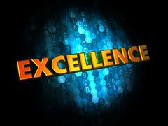 Excellence Concept on Digital Background. Stock Illustration