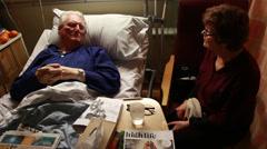 Hospital ward visit Stock Footage