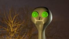 alien in woods et extraterrestrial aliens - stock footage