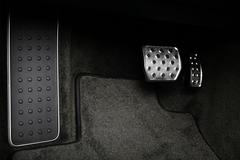 pedals in a car - stock photo