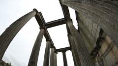 Ancient city of Aizanoi (Zeus Temple) 4 Stock Footage