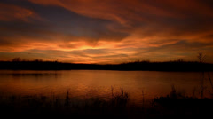 Fiery Sunset in the Florida Everglades - stock footage
