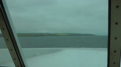 Stranraer to Belfast Ferry looking through front window Stock Footage