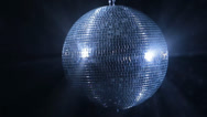 Stock Video Footage of Disco mirror ball on black backround