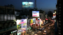 Brigade Road sunset, Bangalore, Karnataka, India Stock Footage