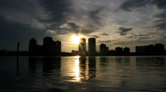 Downtown West Palm at Sunset - stock footage