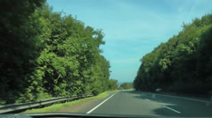 Driving along quiet road through Galloway Stock Footage