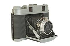 old foto camera - stock photo