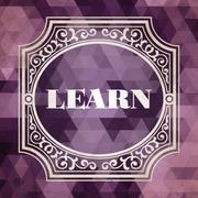 Learn Concept. Vintage Design Background. Stock Illustration
