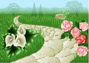 Stock Illustration of garden path