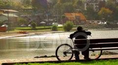 0426 Villarrica Lake, Puerto Varas,  Chile Stock Footage