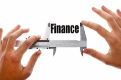 the size of our finances - stock illustration