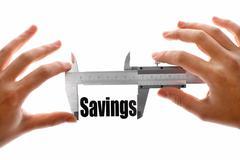 measuring our savings - stock illustration
