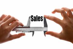 how big are our sales - stock illustration