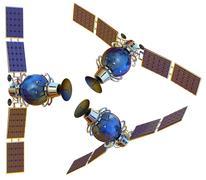 satellite - stock illustration