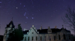 Orion over Castle of Nádasdy Stock Footage