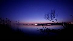 Planets over the Lake Balaton Stock Footage