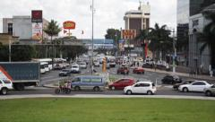 Busy Intersection in El Salvador - stock footage