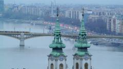 Rush Hour in Budapest Fast Forward Stock Footage
