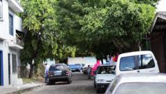 Side Street in El Salvador Pan Stock Footage
