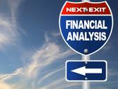 Stock Illustration of financial analysis road sign