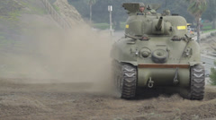 Armored Tank Stock Footage