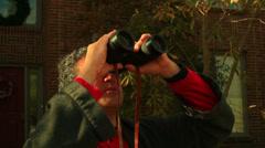 Looking binoculars sky watch watching Stock Footage