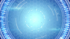 blue techno abstract loopable background - stock footage