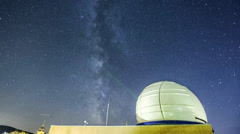 Milky Way over Pannon Observatory - stock footage