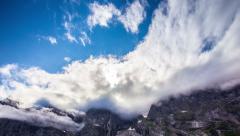 4k Timelapse, Trollveggen mountain, Norway - stock footage