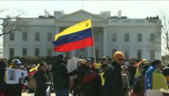 Venezuelan Protesters - stock footage