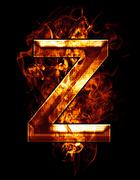 z, illustration of  letter with chrome effects  - stock illustration