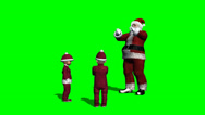 Stock Video Footage of santa claus talking with christmas children - green screen