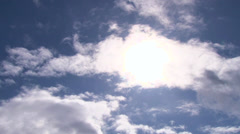Sun Flare Clouds Time Lapse - stock footage