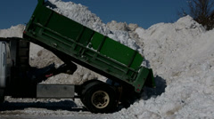 Winter Snow Cleanup Smaller Dump Truck Stock Footage