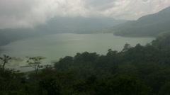 View of Buyan lake and Tamblingan lake, Bali Stock Footage