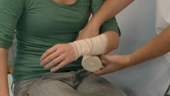 ARM BANDAGE - stock footage