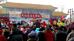 The Chinese traditional Shehuo performance in Yu County, China Stock Footage