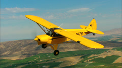 Top Cub Air-To-Air Stock Footage