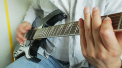 Guitarist closeup Stock Footage