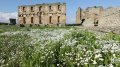 Ancient city of Aspendos 3 Stock Footage