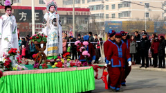 The Chinese traditional Shehuo show in Yu County, China Stock Footage