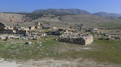 Ancient city of Hierapolis 1 Stock Footage