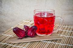 roselle water - stock photo
