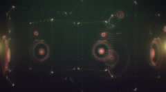 VJ Loop - Digitally stylized 3D speakers thumping and pulsating Stock Footage