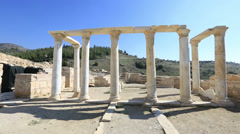 Ancient city of Hierapolis 8 Stock Footage