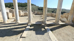 Ancient city of Hierapolis 9 Stock Footage