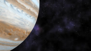 Stock Video Footage of Fly over planet Jupiter