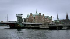 0282 Sightseeing of Copenhagen from the boat Stock Footage