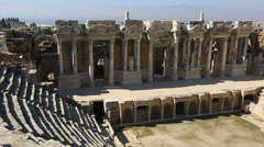 Ancient city of Hierapolis 14 Stock Footage